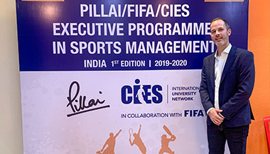PILLAI/FIFA/CIES Conference with Pierre Ducrey, Olympic Games Associate Director, IOC